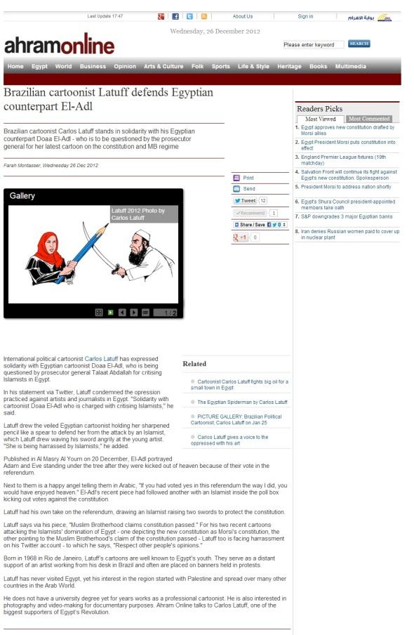 Ahram Online Dec26 2012