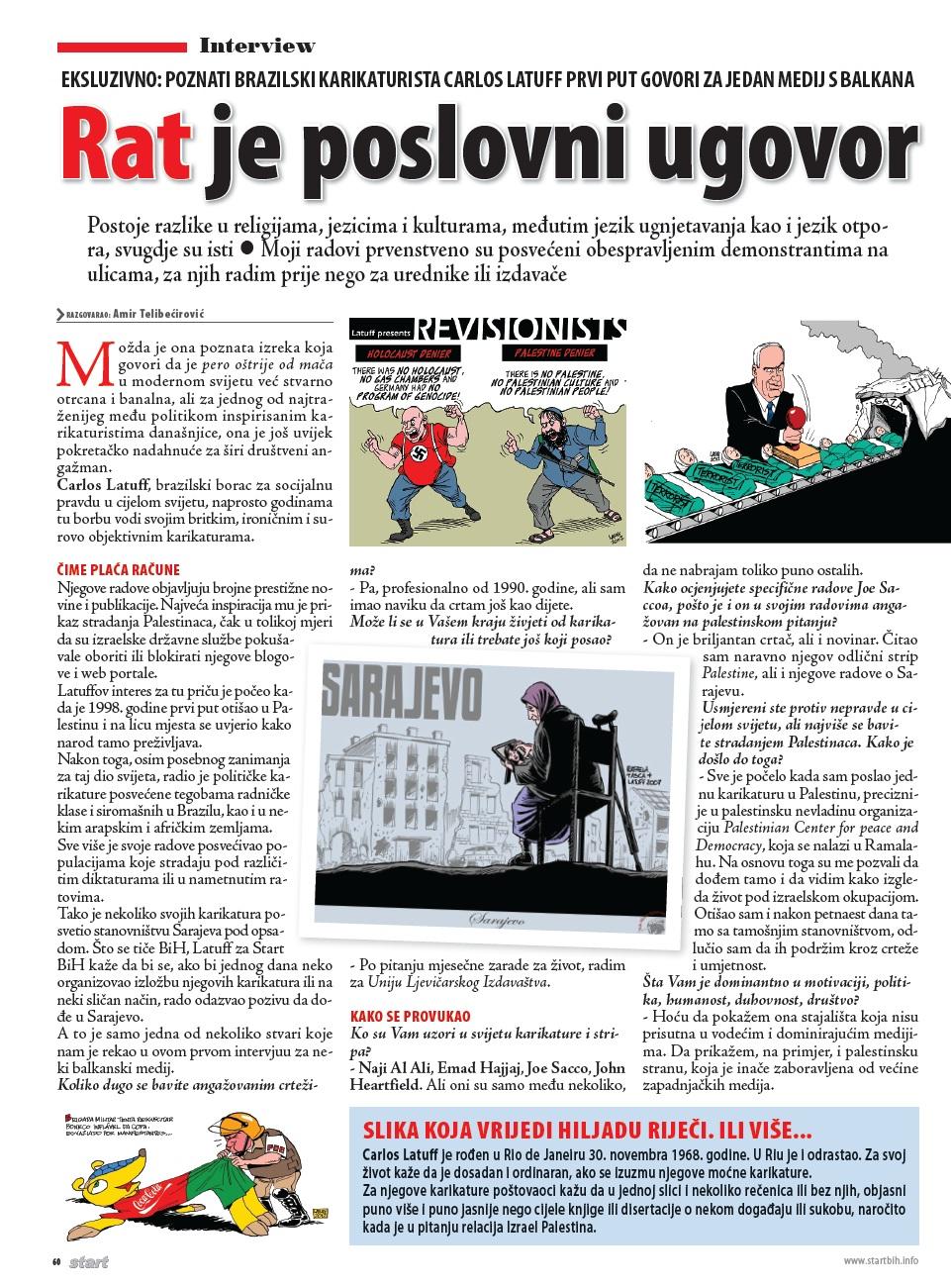 Bosnian magazine Start BiH 1