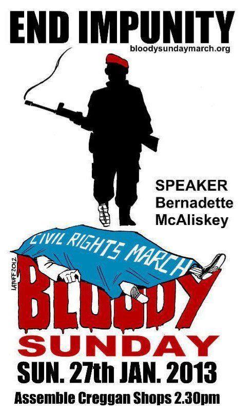 Bloddy Sunday March poster Ireland 2013 Latuff