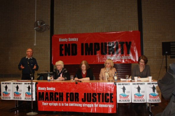 Members of Bloody Sunday March for Justice committee Jan26 2013