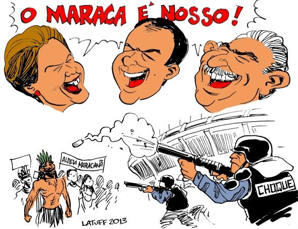 Dilma Cabral Lula Maracana indigenas