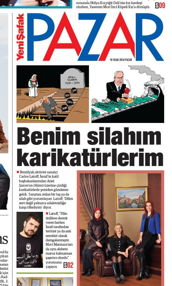 Yeni Safak Turkish newspaper 19Jan2014 A