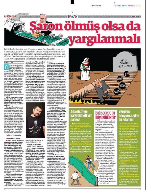 Yeni Safak Turkish newspaper 19Jan2014 B