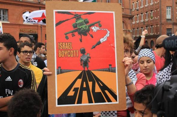 Gaza protest Toulouse France