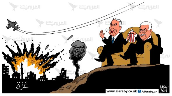 Netanyahu Abbas love horror movies Al Araby