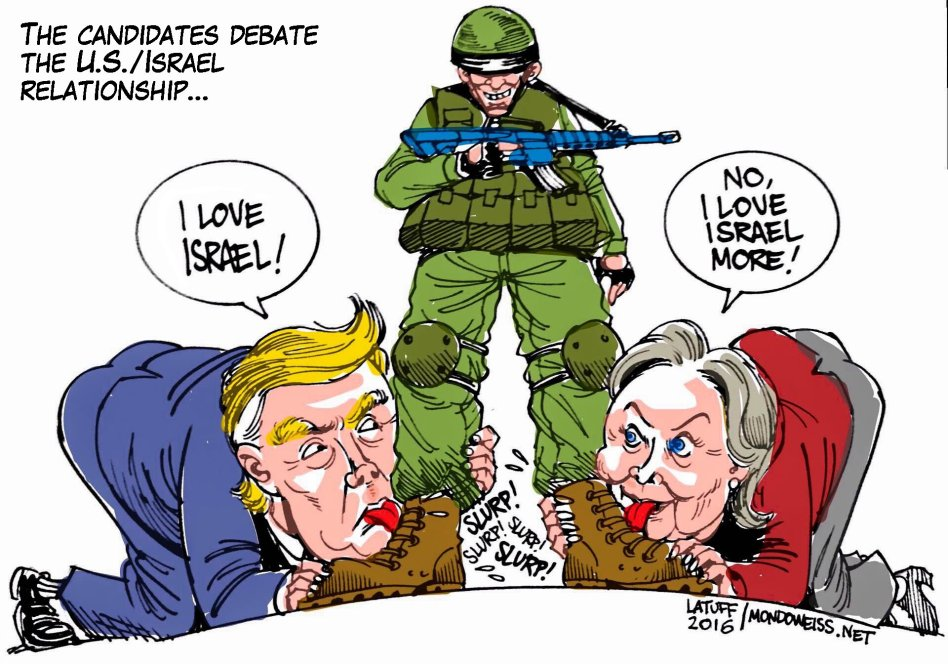 Trump Hillary Israel Mondoweiss