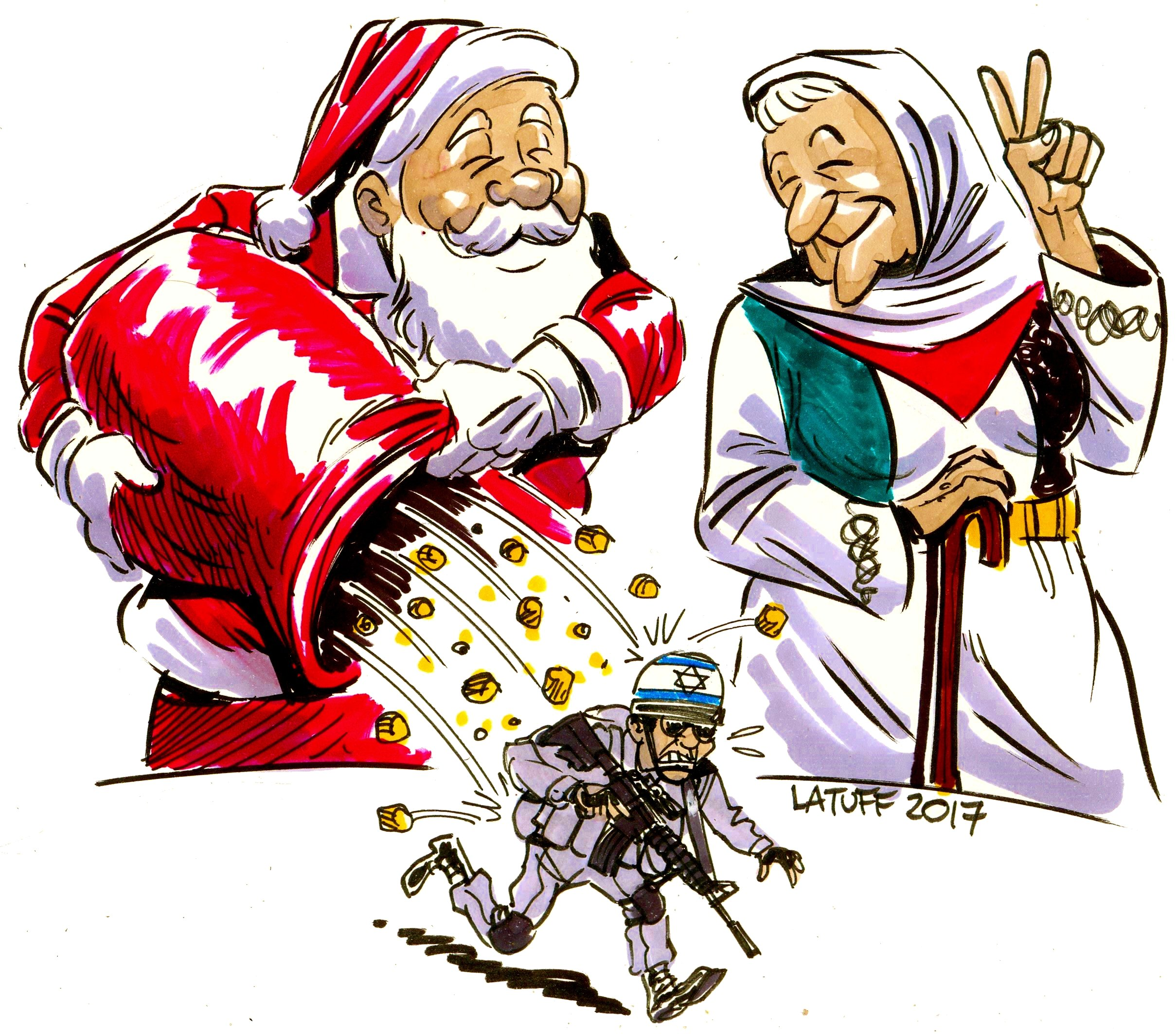 Merry Xmas from Mother Palestine