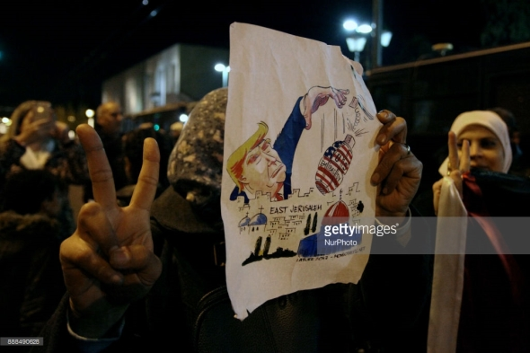 Protest against Trump Athens Greece December 8 2017 Giorgos Georgiou NurPhoto Getty Images