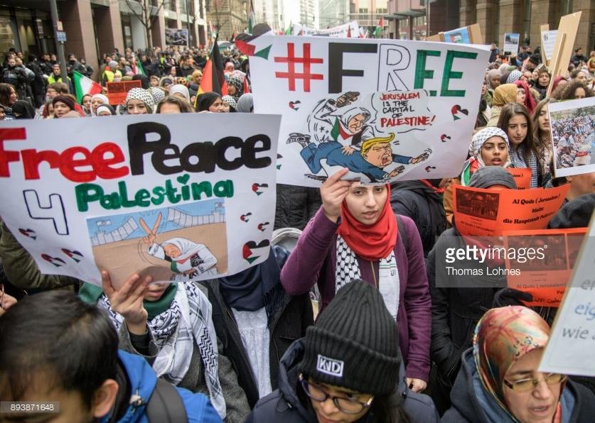 Protest against Trump Frankfurt Germany Dec 16 2017 Thomas Lohnes Getty Images 2