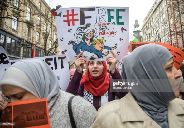 Protest against Trump Frankfurt Germany Dec 16 2017 Thomas Lohnes Getty Images