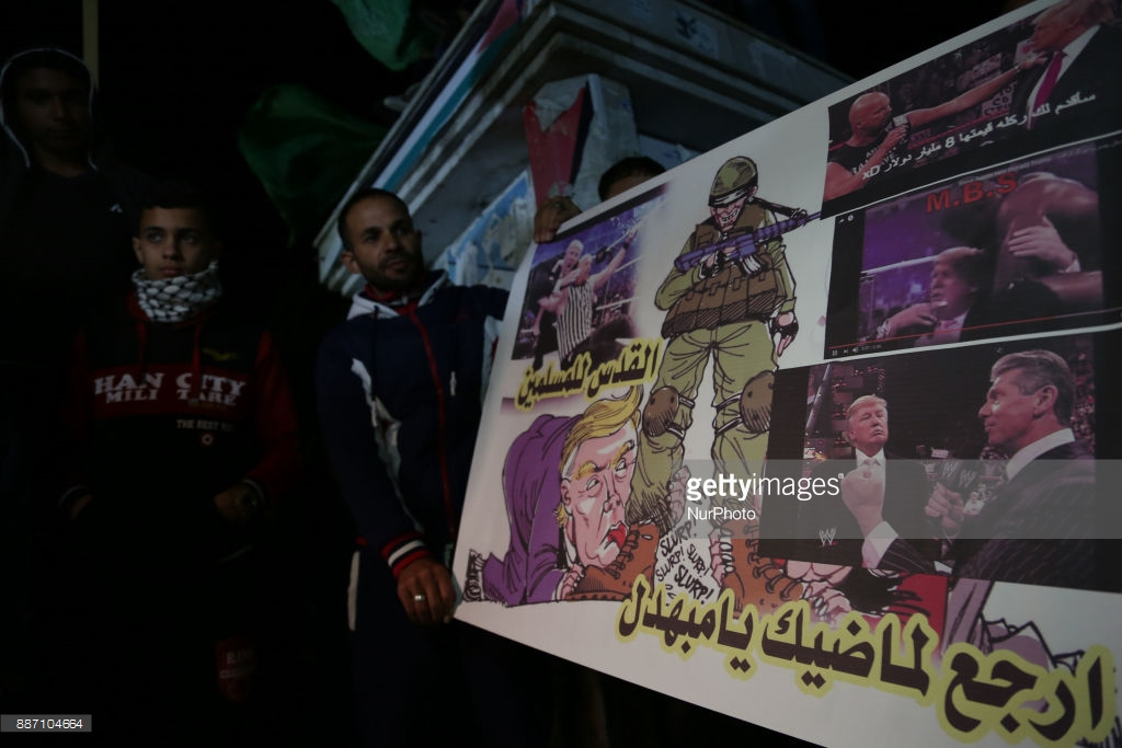 Protest against Trump Gaza Palestine December 06 2017 Majdi Fathi NurPhoto Getty Images