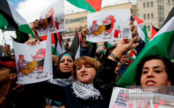 Protest against Trump Nablus Palestine December 07 2017 JAAFAR ASHTIYEH AFP Getty Images
