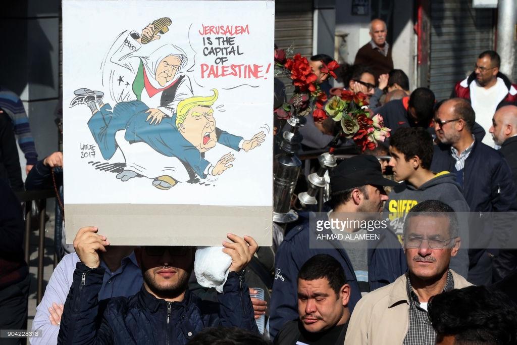 Trump protest Amman Jordan January 12 2018 AHMAD ALAMEEN AFP Getty Images
