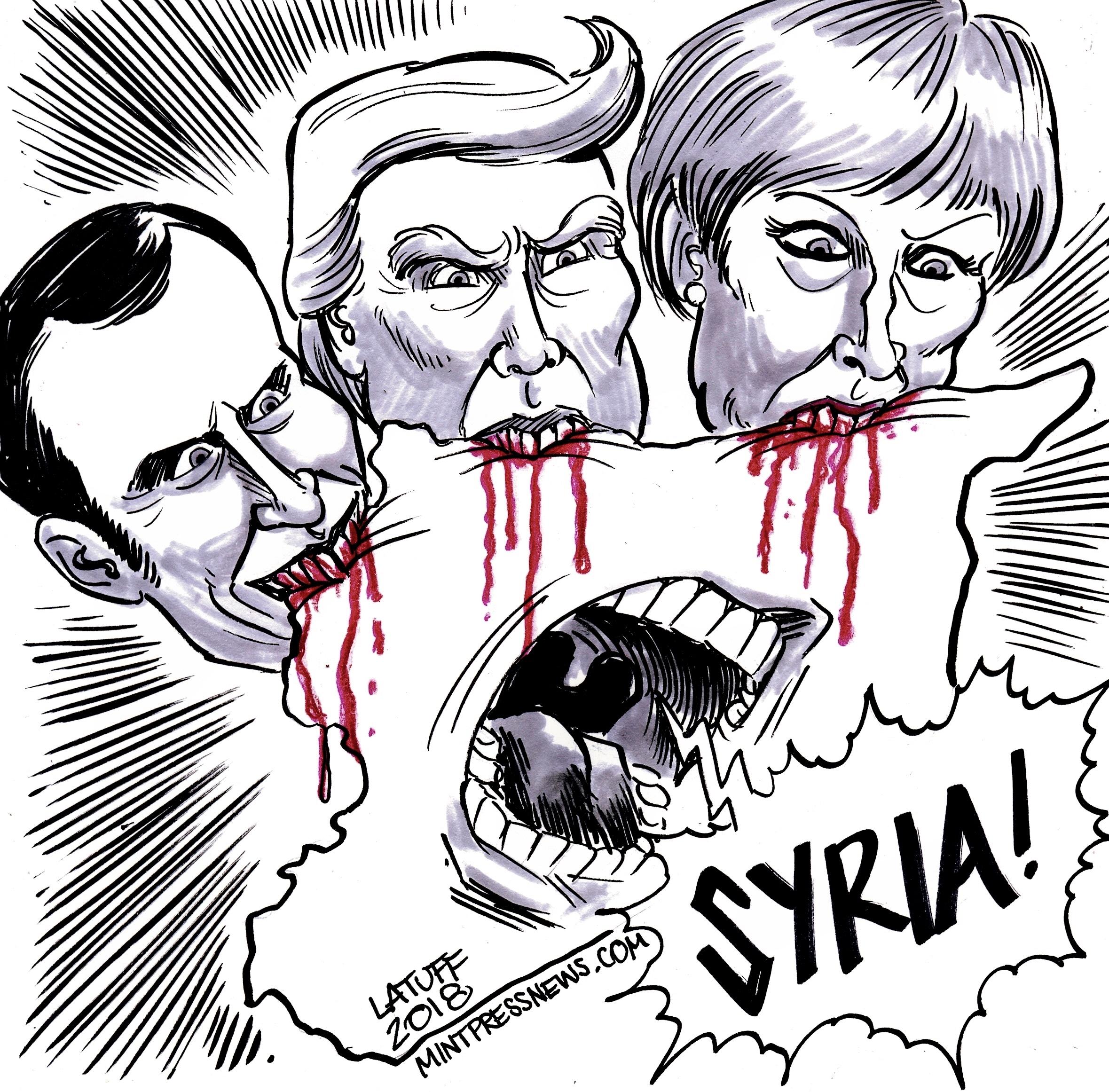 Macron May Trump Syria bombing MintPressNews