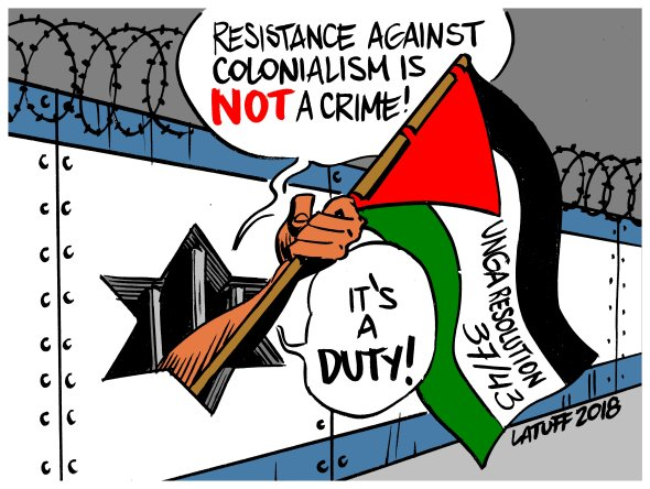 Resistance against colonialism is NOT a crime it is a DUTY Palestine Israel