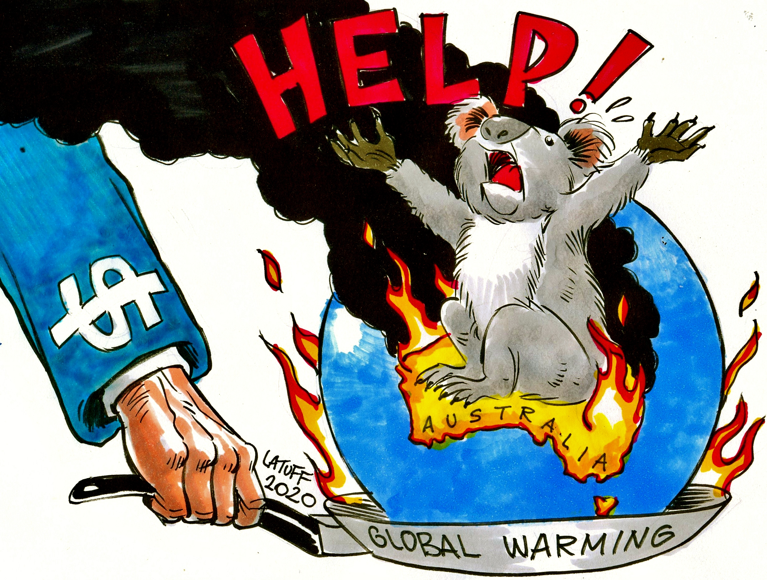 Australia fires Koalas Latuff