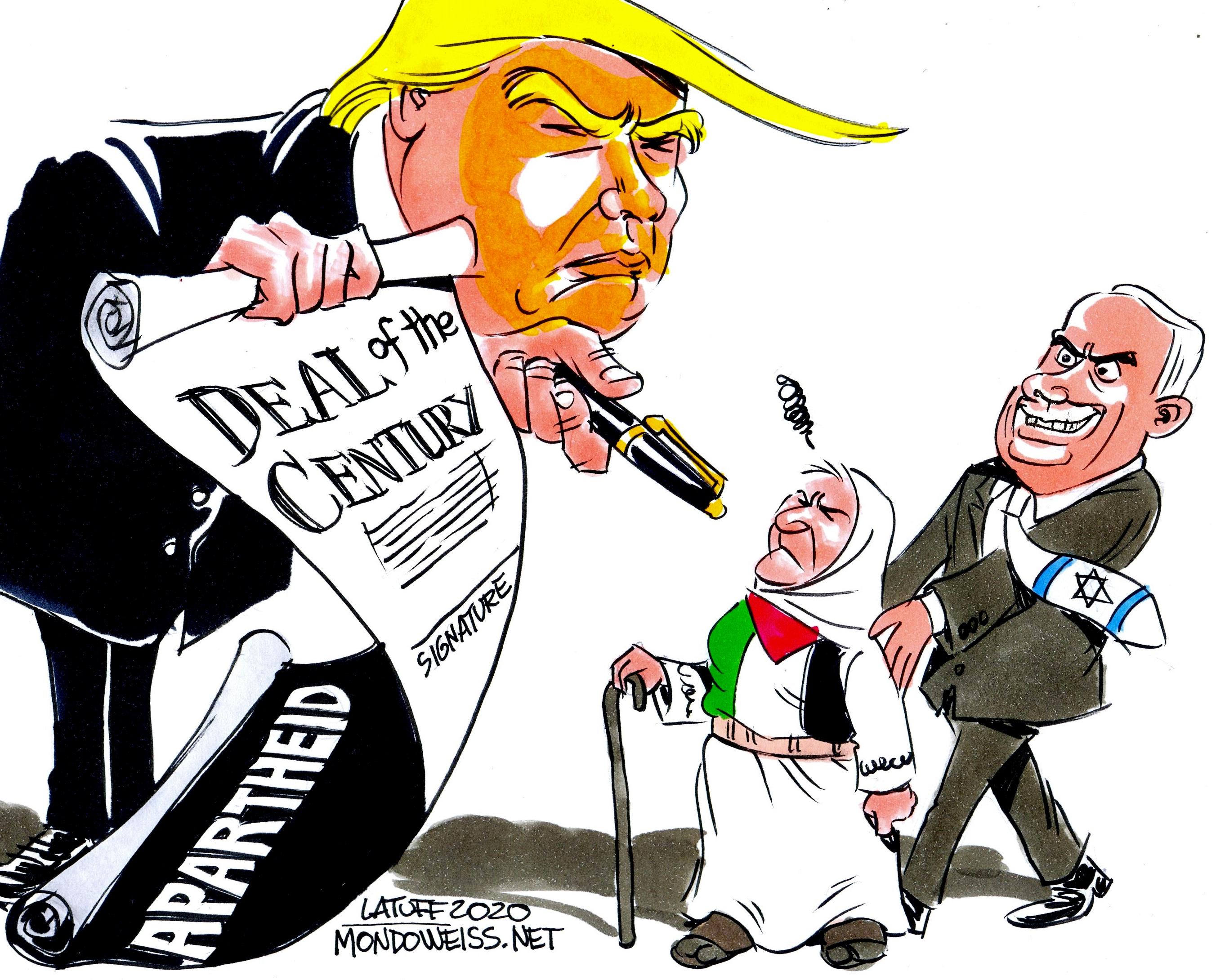 Trump Netanyahu Deal of Century Mother Palestine Mondoweiss
